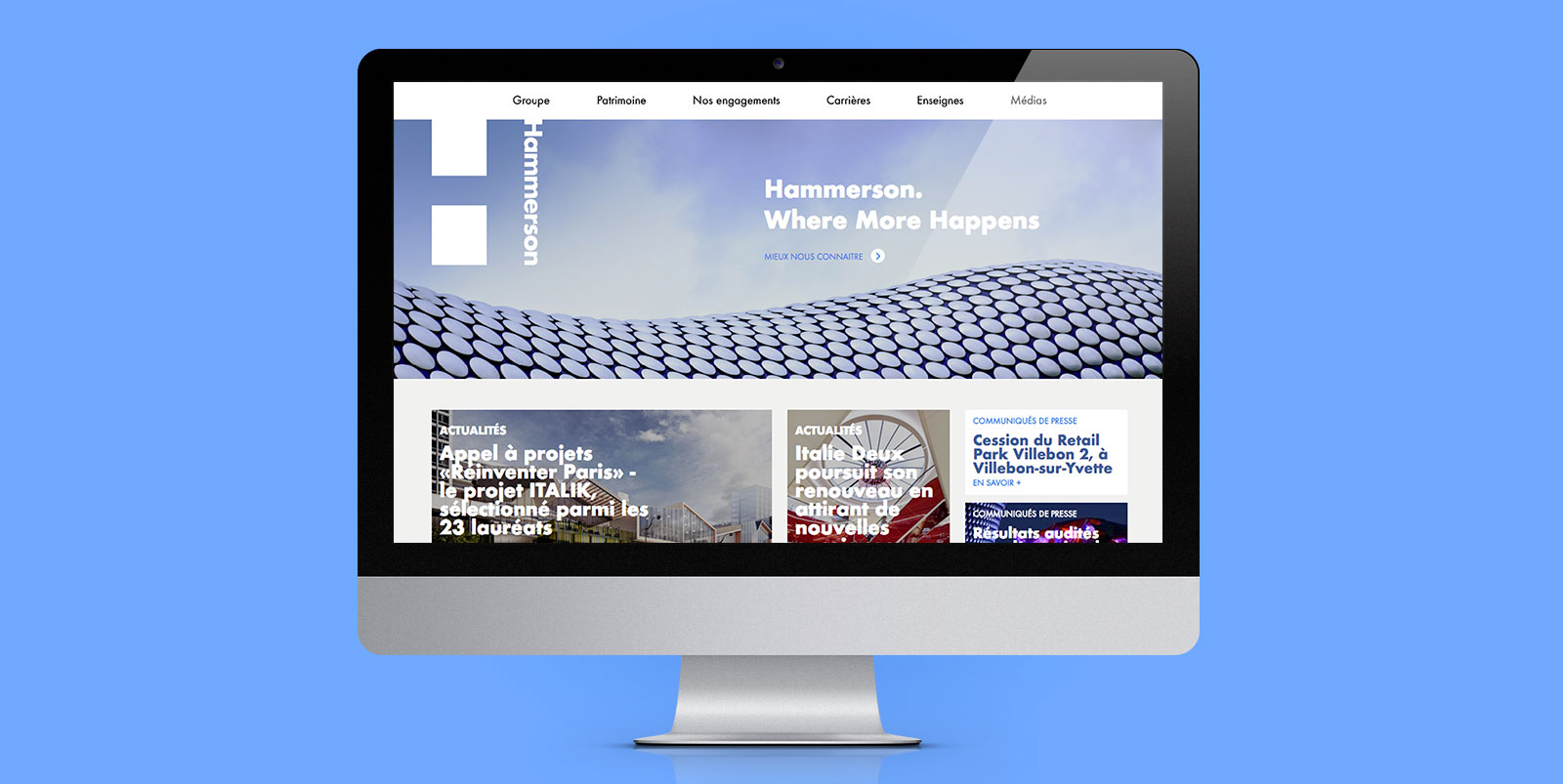 Hammerson - site internet - IDDP - Homepage